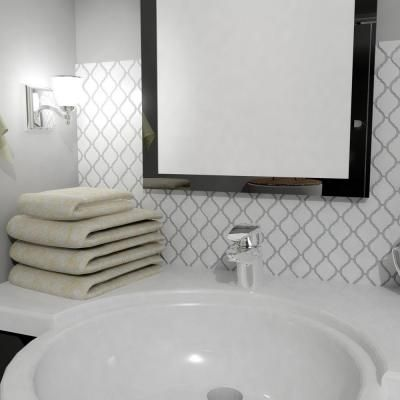 arabesque tile bathroom merola tile arabesque glossy white 9 7 8 in x 11 1 8 in 10119