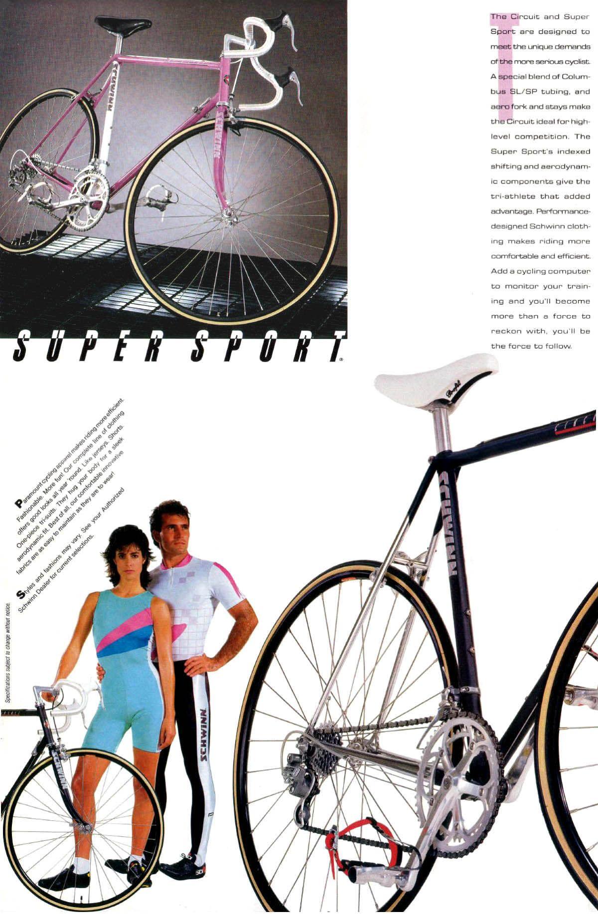 Schwinn 1987 Sport Cycles Super Sport Circuit Schwinn Super Sport Sports Cycle