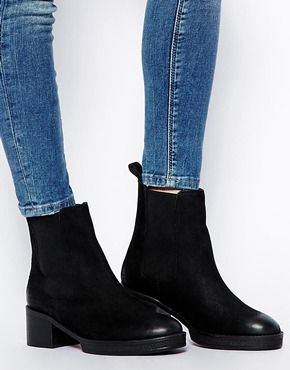 ASOS ROYAL Leather Chelsea Ankle Boots