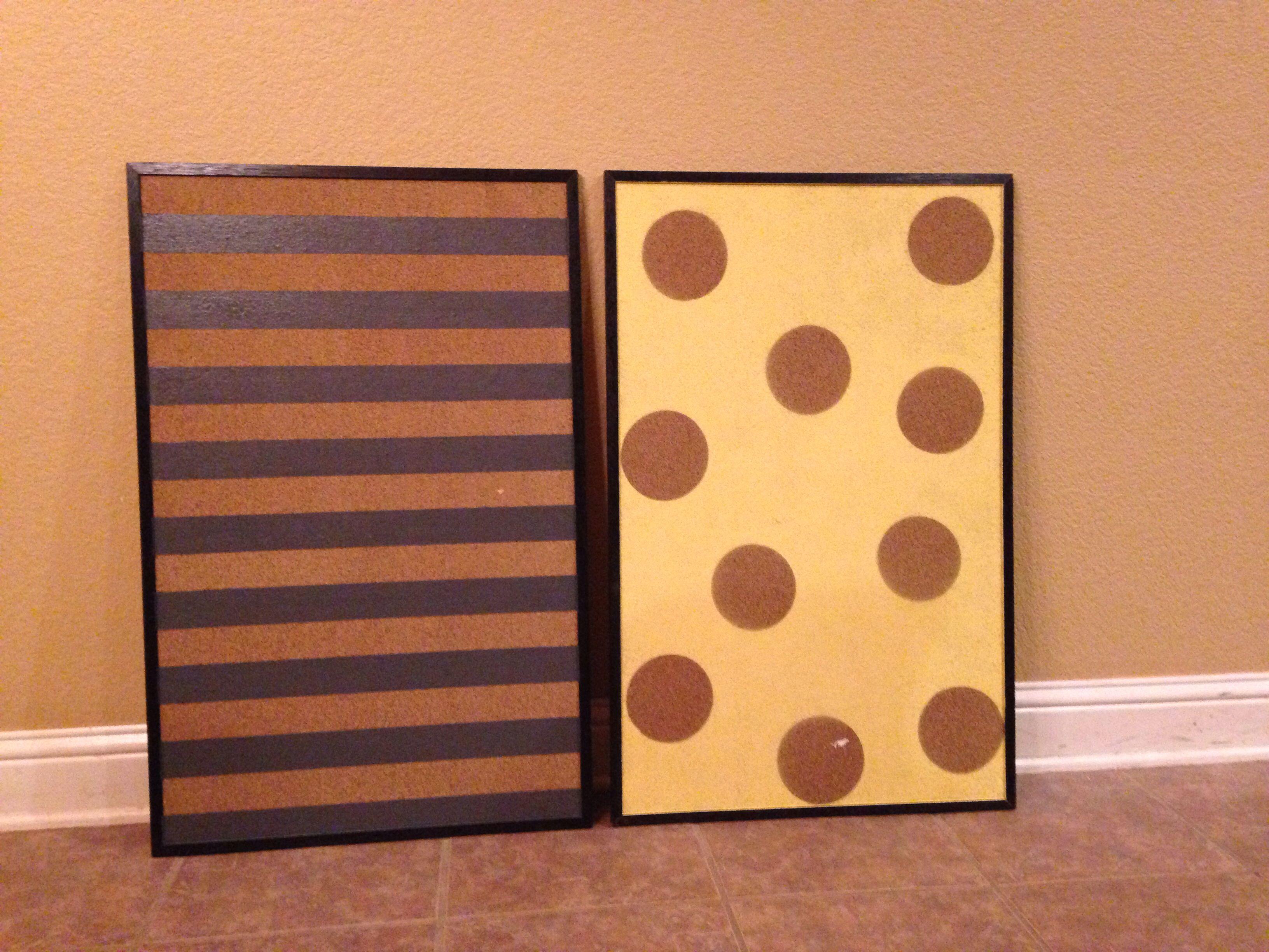 painted cork board