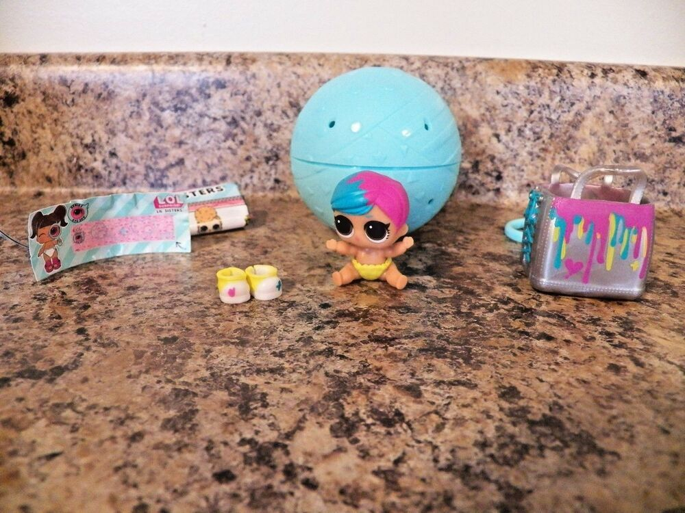 LOL Surprise Dolls Lil Sisters eye spy LIL SCRIBBLES /& BAG SHOES toy gift