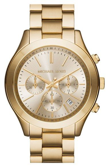 MICHAEL Michael Kors Michael Kors 'Slim Runway' Chronograph Bracelet Watch, 42mm (Nordstrom Exclusive)