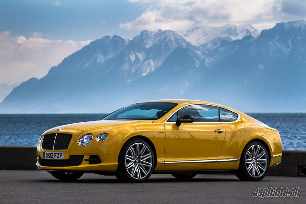 Two Beauties: Bentley Continental GT Speed and the Alps ( Lausanne, Switzerland)