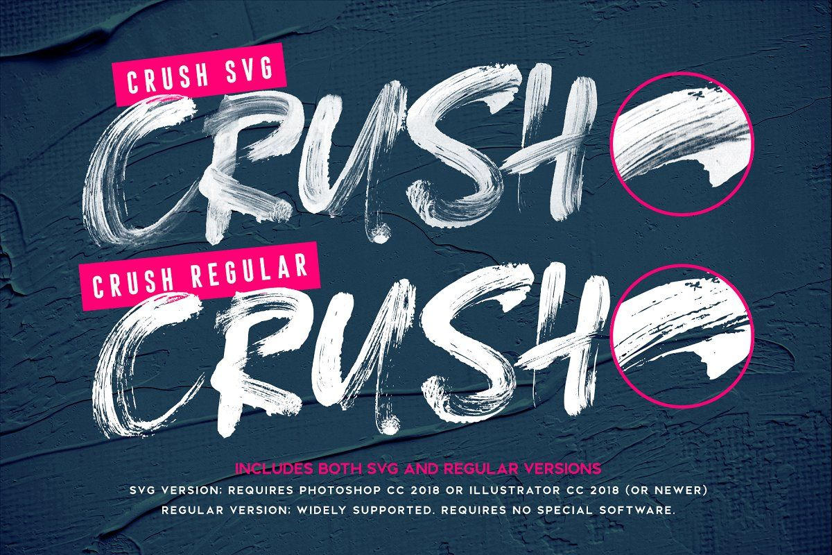Crush Svg Font Text Layout Brush Font Photoshop