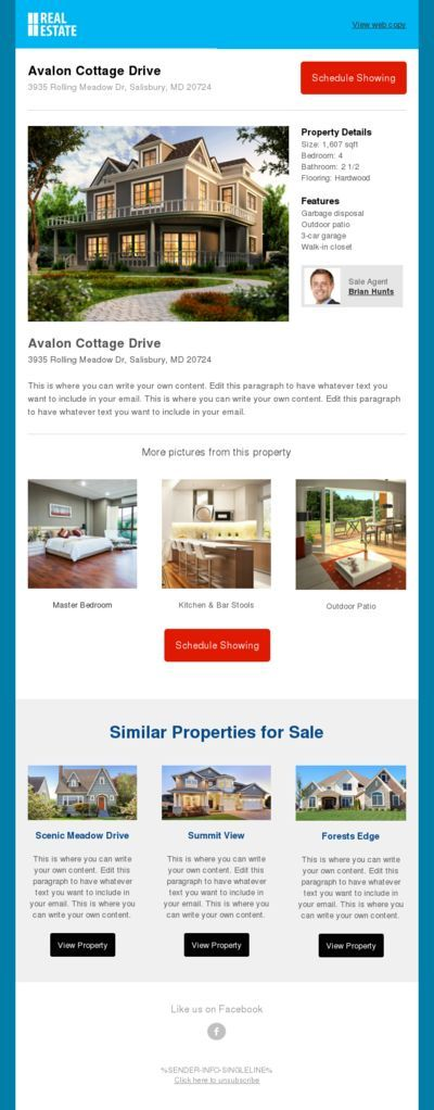 Brochure Bo For Realtors Box Real Estate Marketing Supplies Template