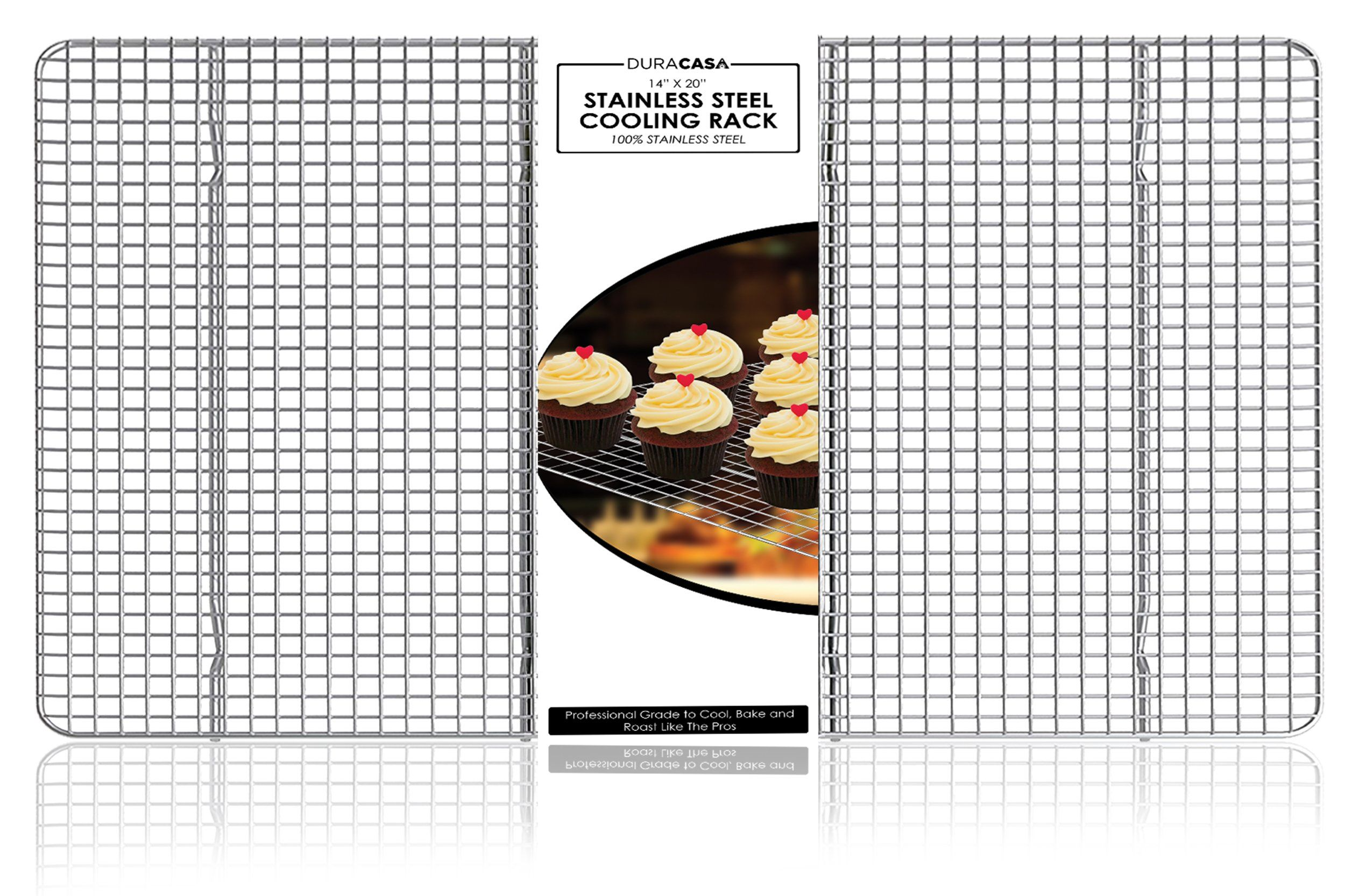 Baking Rack Cooling Rack 14 X 20 Stainless Steel 304 Grade Roasting Rack Heavy Duty Oven Safe Commercial Quality Co