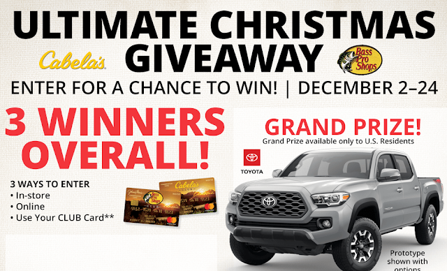 Bass Pro Shops Cabelas Christmas Giveaway Online Sweepstakes Giveaway Sweepstakes