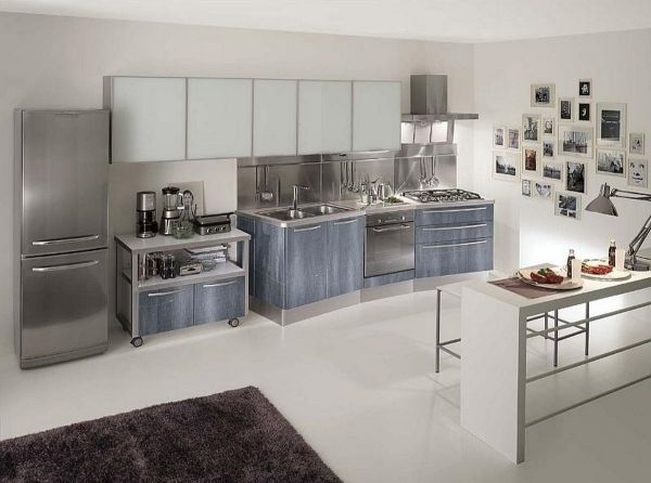 Moderne Küchen aus Edelstahl und klassische Metall Akzente #akzente - küchen aus edelstahl