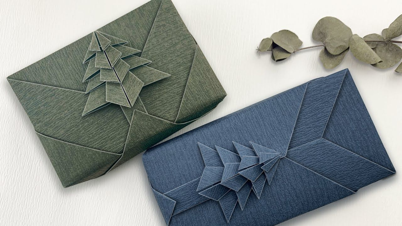 Diy Geschenk Weihnachtlich Verpacken Origami In 2020 Christmas Gift Wrapping Christmas Origami Creative Gift Wrapping