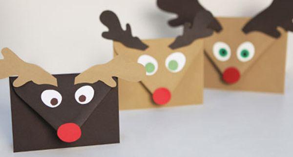 tarjetas con mensajes de navidad hechas a mano ideas Pinterest