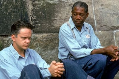 The Shawshank Redemption really does deliver on to its rather portentous title. Andy (Tim Robbins) gains absolution from Red (Morgan Freeman) when he blames himself for his wife's death. He gains redemption through what he does for others throughout the rest of the movie.
