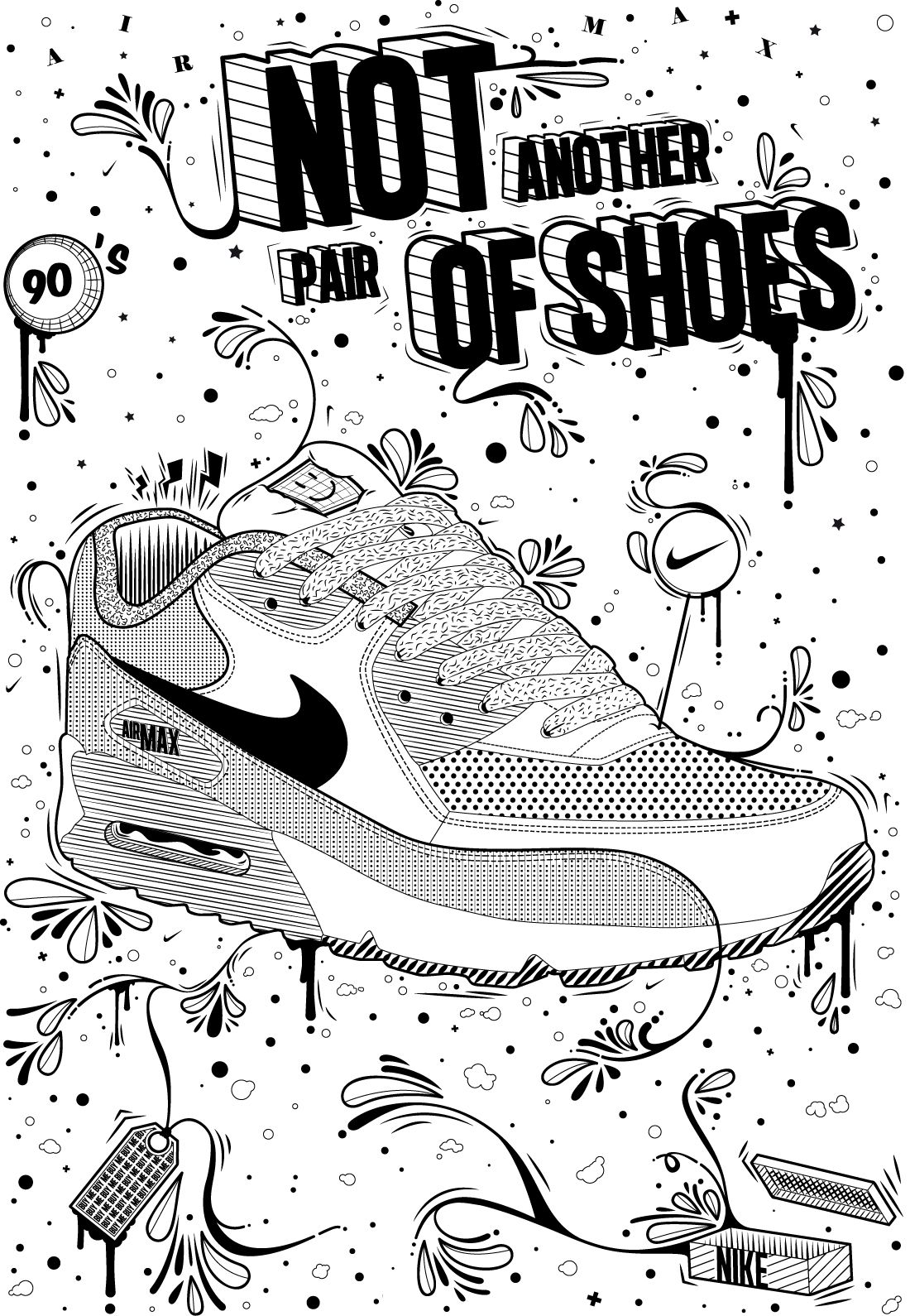 Daily Inspiration #1462 | Sneaker art, Nike art, Sneakers