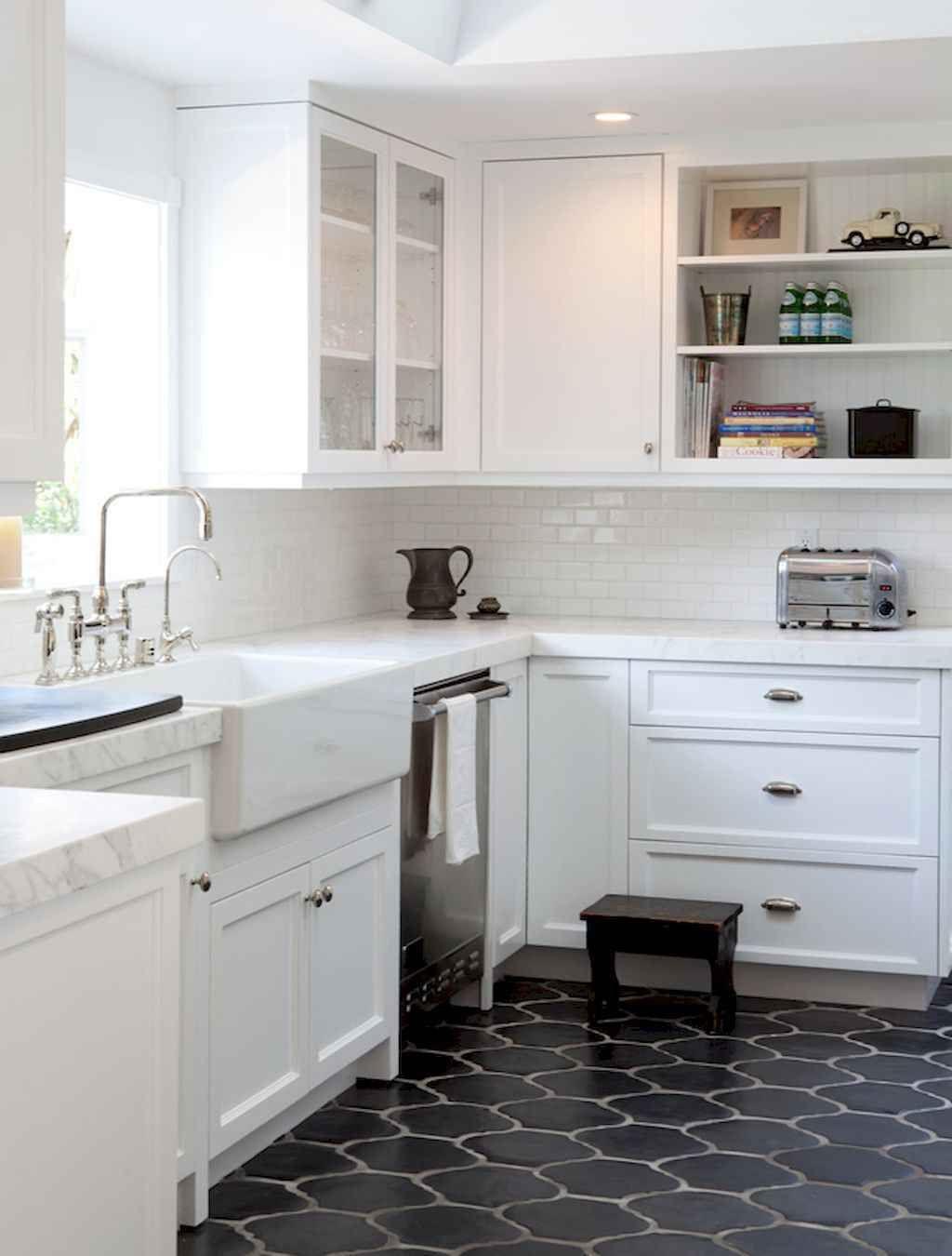 9 Tile Floor Farmhouse Kitchen Decor Ideas 9   Kitchen remodel ...