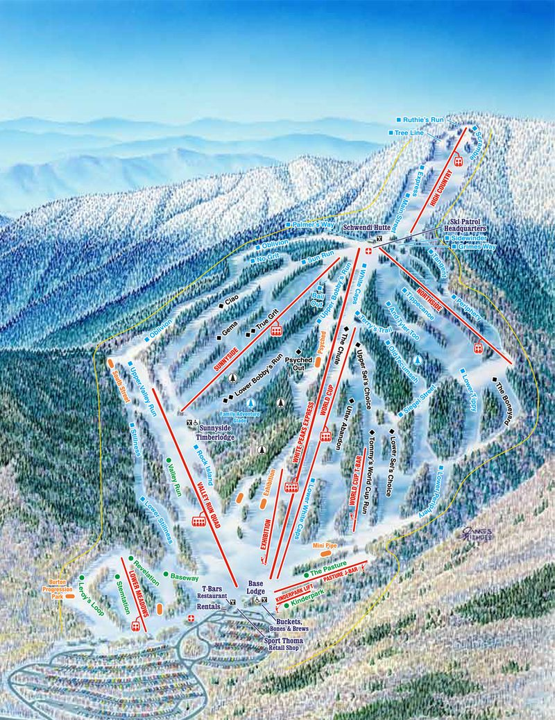 Waterville Valley Nh Trail Map Vacation Travel Www Avacationrental4me Com Ski Trip Travel Spot Types Of Skiing