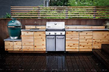 Cedar Cabinets For The Outdoor Kitchen Red Hook Outdoor Rooms