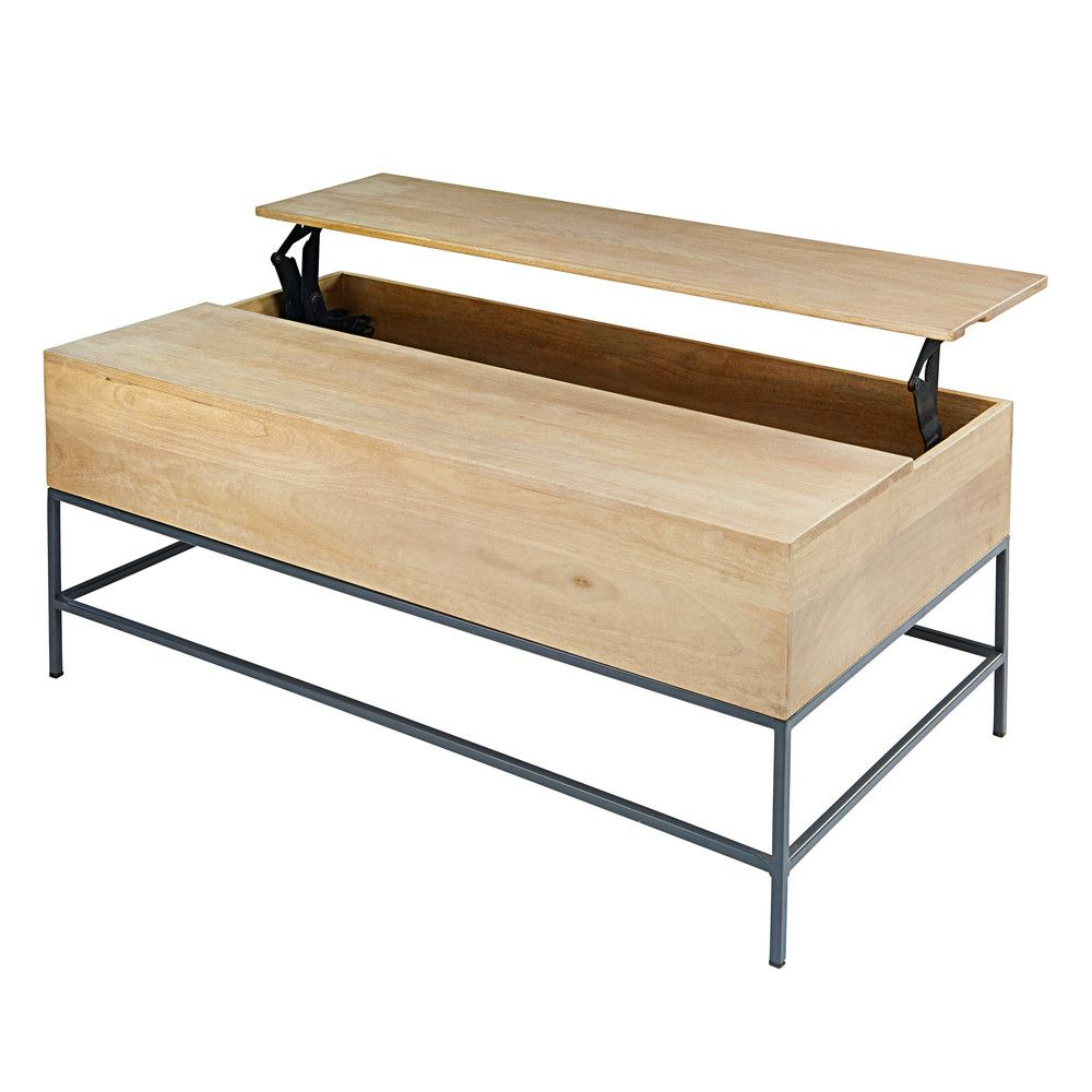 table basse en manguier maisons du monde