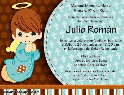 bonita invitacin para que hagas participes a familiares y amigos del bautizo de tu hijo