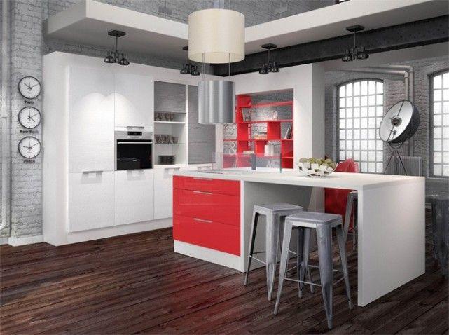 Boulanger cuisine saragosse blanc rouge Kitchen Pinterest