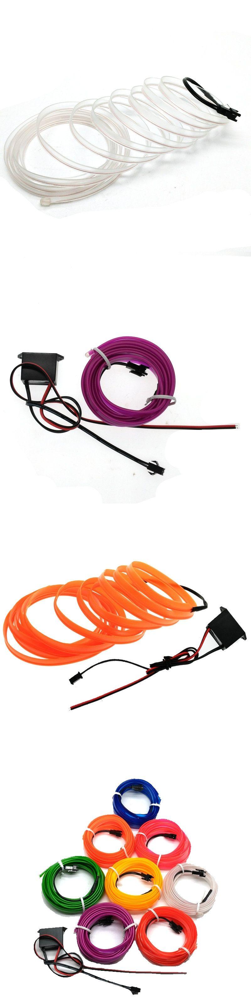 12V car lights 6mm Sewing Edge Flexible EL Wire Neon Light Dance ...