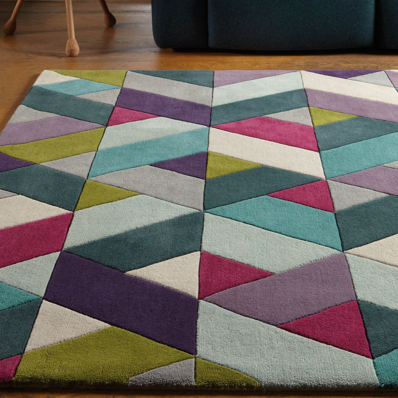 Funk Chevron Rugs In Blue And Green Online From The Rug Er Uk
