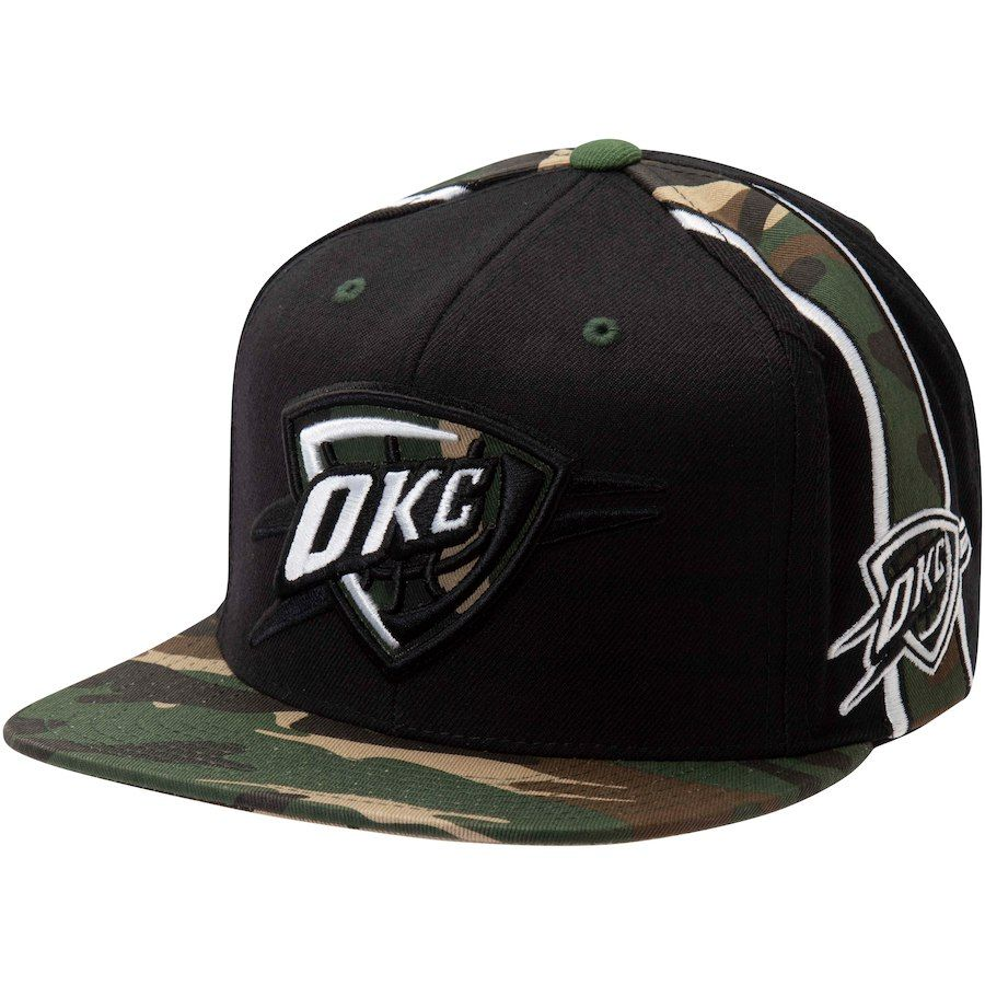 buy popular 66a54 83650 ... coupon for mens oklahoma city thunder mitchell ness black straight camo snapback  hat your price 29.99
