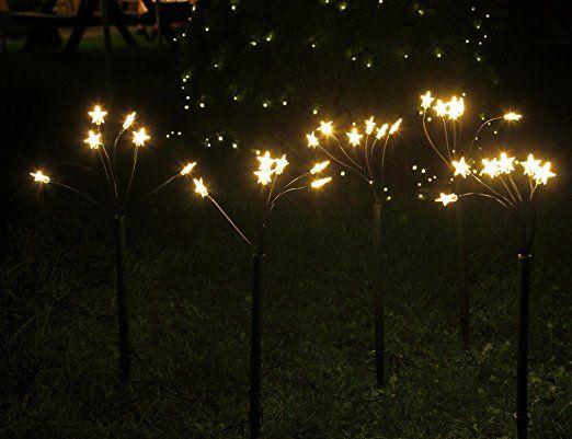 sternenst be set mit 5 led leuchtst be f r au en garten weihnachten von gartenpirat. Black Bedroom Furniture Sets. Home Design Ideas