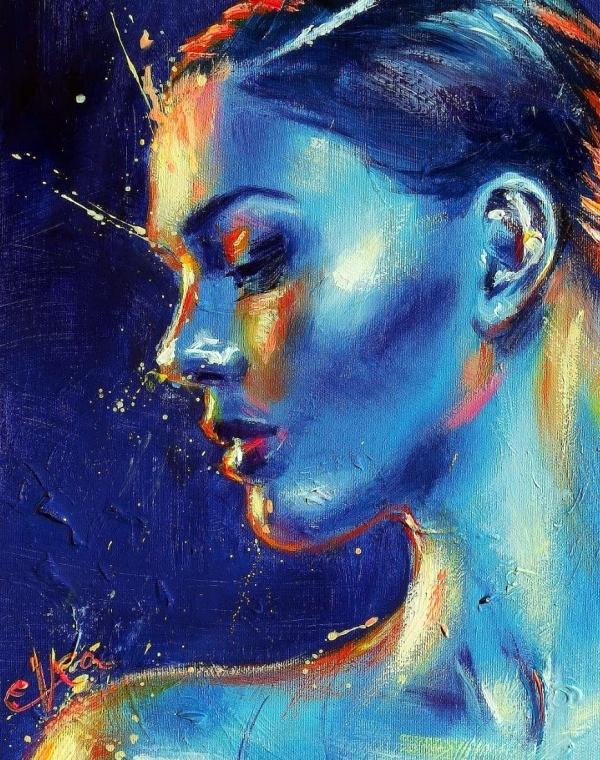 Beautiful Acrylic Portrait Paintings Ideas Acrylic Portrait Painting Portrait Painting Portrait Acrylic