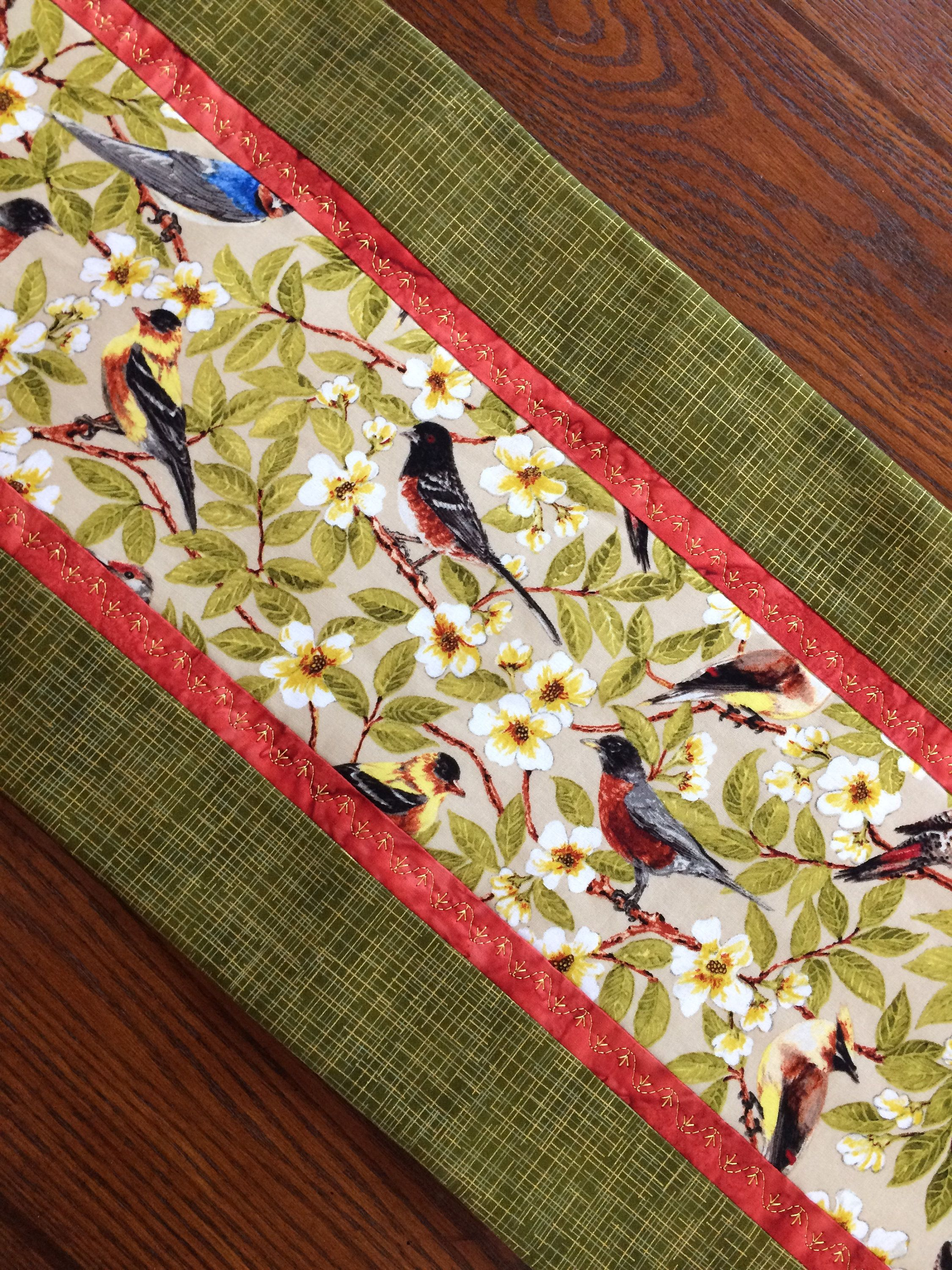 Charmant Bird Table Runner, Woodland Birds And Dogwood Blooms, Floral, Housewarming  Gift Ideas, Gift Idea, Elegant Table Decor, Wedding Gift Idea By  AlidanCreations ...