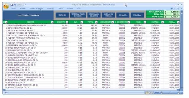 Facturacion en excel con control de inventarios y formato cbb - formato inventario en excel