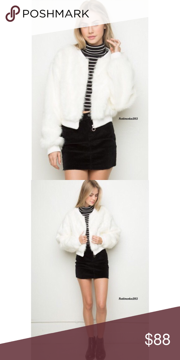 d76c70297 Fiona fur bomber. From brandy Melville Brand new never worn! Price ...