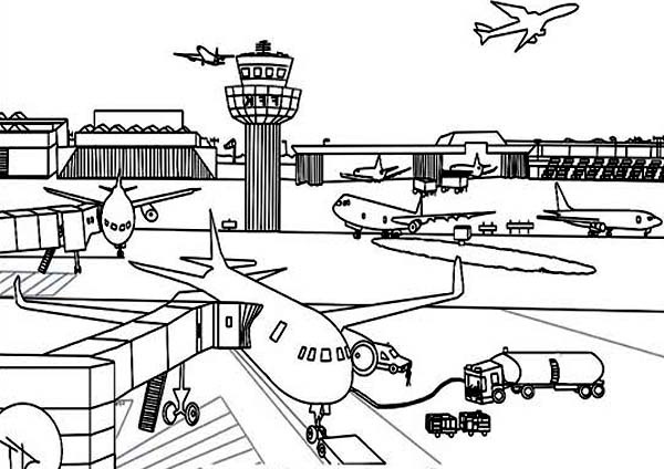 Pin By Coloringsky On Airport Coloring Pages Coloring Pages Coloring Pages For Kids School Coloring Pages