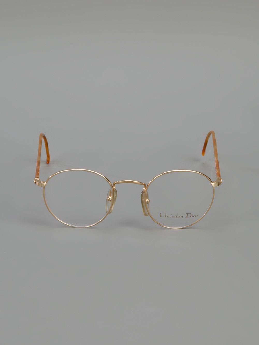 Glasses Frame Dior : CHRISTIAN DIOR VINTAGE round frame glasses glasses ...