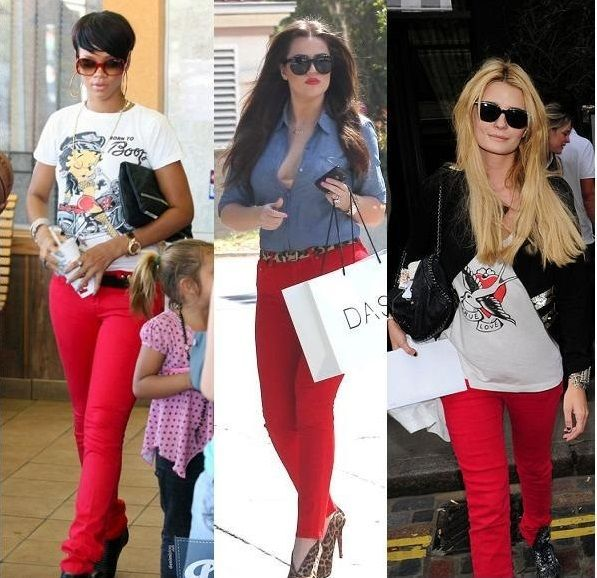 Are red pants fashionable dresses