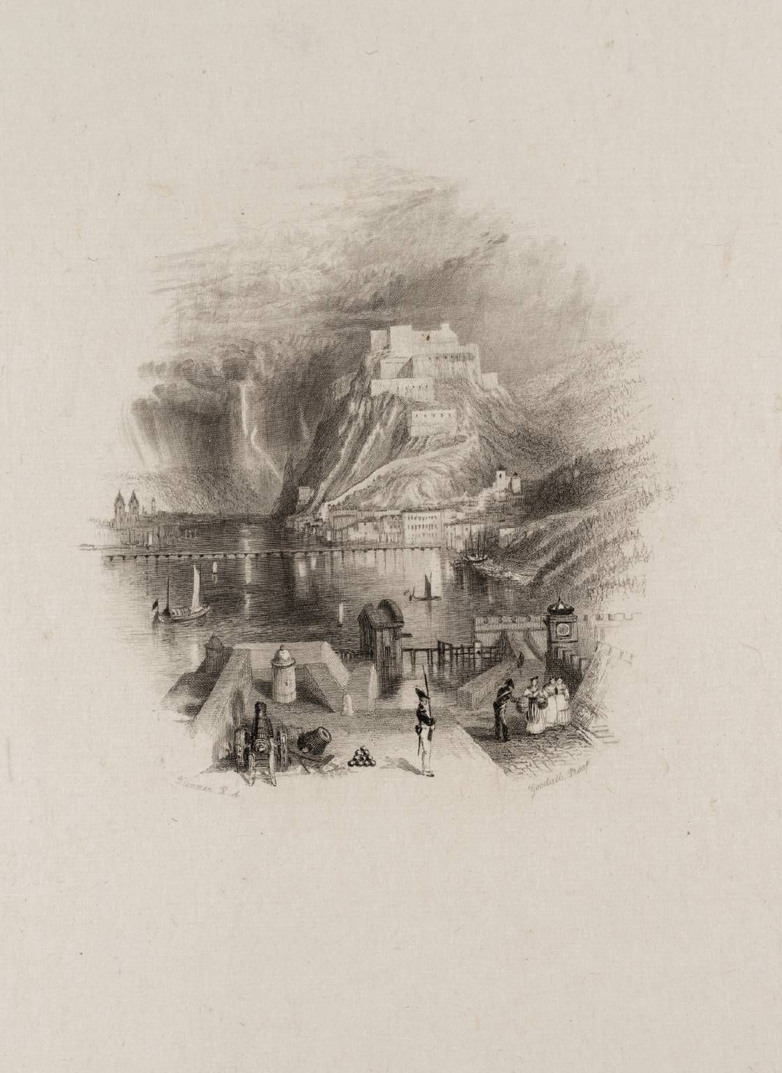 After Joseph Mallord William Turner, Ehrenbreitstein, engraved by Edward Goodall published 1837