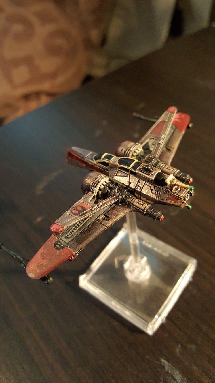 Star Wars X Wing Miniatures Arc 170 Repaint Rear X Wing Miniatures Star Wars Vehicles Star Wars Fighter