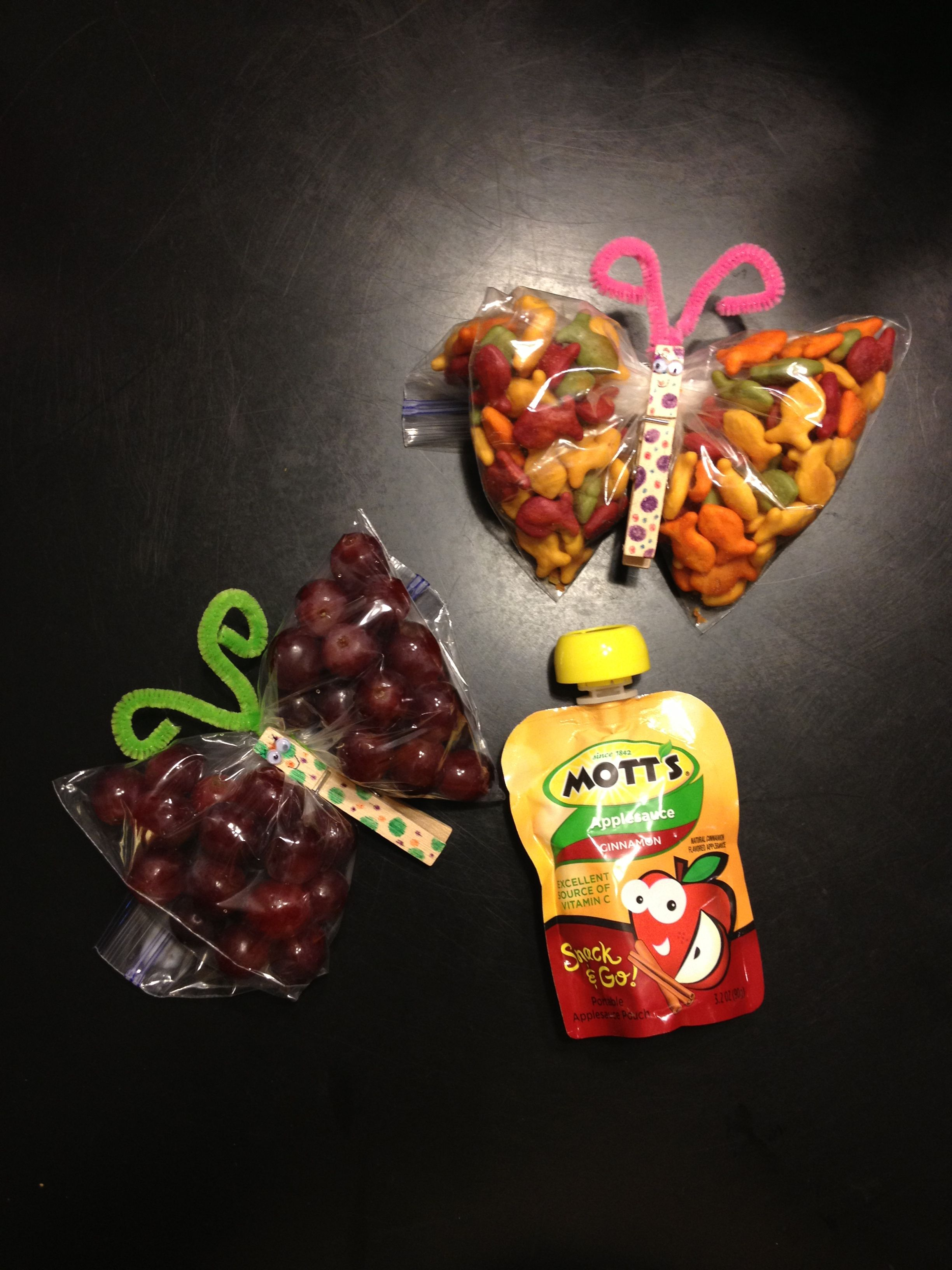 Healthy Preschool Snack Butterflies Made Out Of Goldfish
