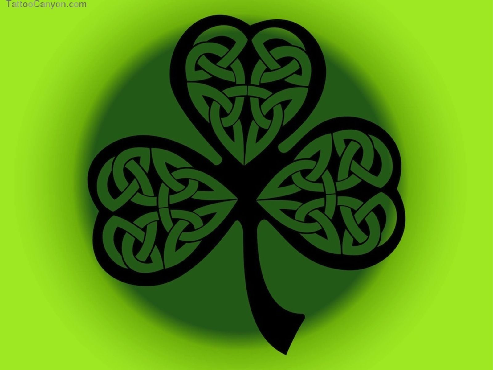 Four Leaf Clover Picture #3412 | Four Leaf Clover Tattoo Templates ...