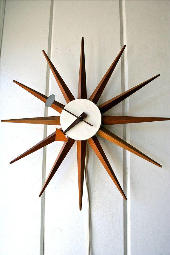 reserved for michael templeman george nelson vintage spike clock starburst sunburst howard. Black Bedroom Furniture Sets. Home Design Ideas