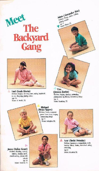 Barney The Backyard Gang Child Of The S Pinterest - Barney backyard gang concert vhs