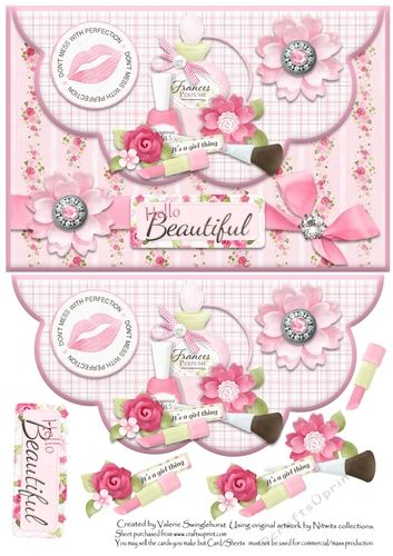 a pretty scalloped envelope card front for ladiesgirls