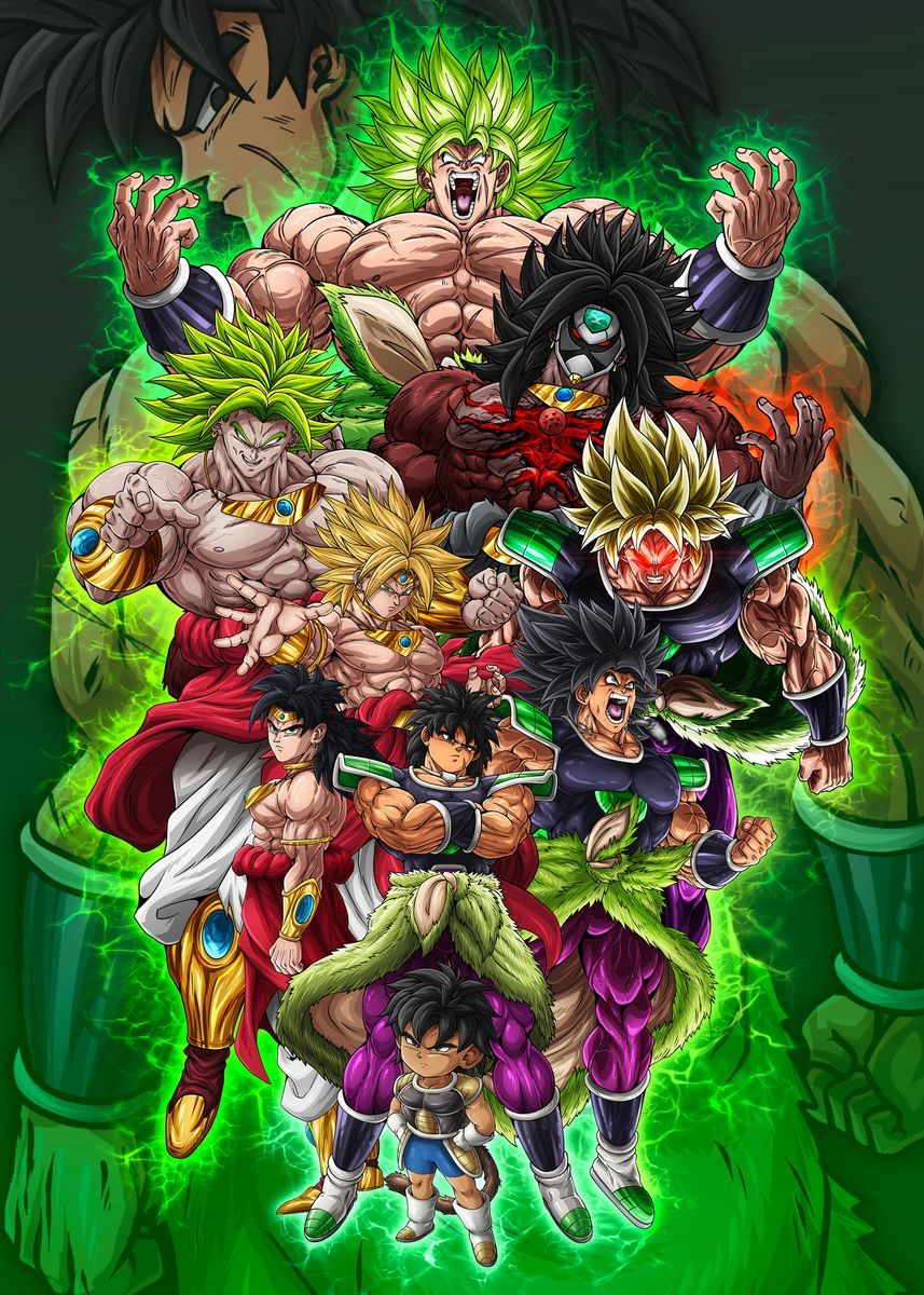 'BROLY III' Metal Poster - David Onaolapo | Displate