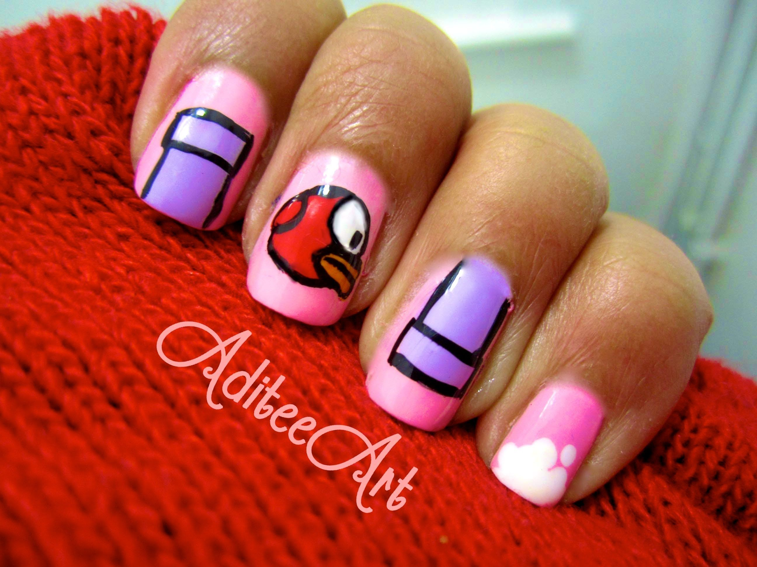 Flappy Bird Nails-VALENTINE'S DAY Edition!?
