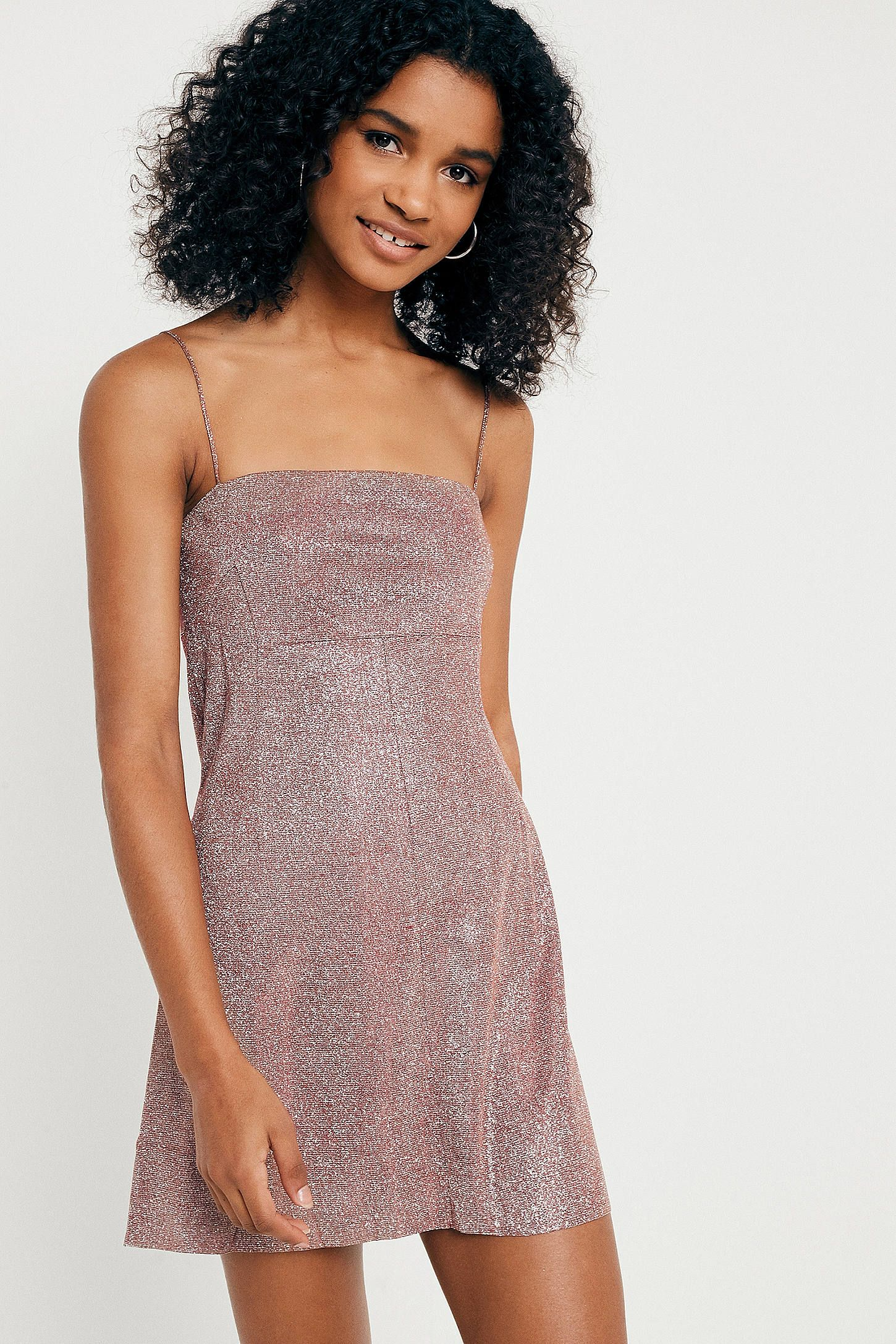23a6bdfac77 Shop Pins   Needles Moonbeam Metallic Slip Dress at Urban Outfitters today.  We carry all the latest styles