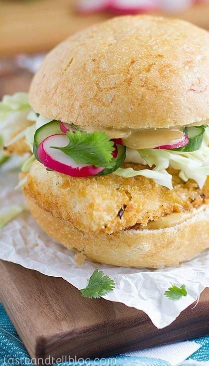 Panko Crusted Fishwiches with Wasabi Tarter Sauce