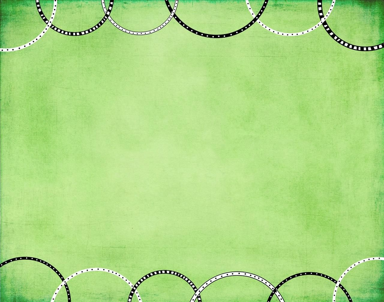 Green With Rings PPT Backgrounds