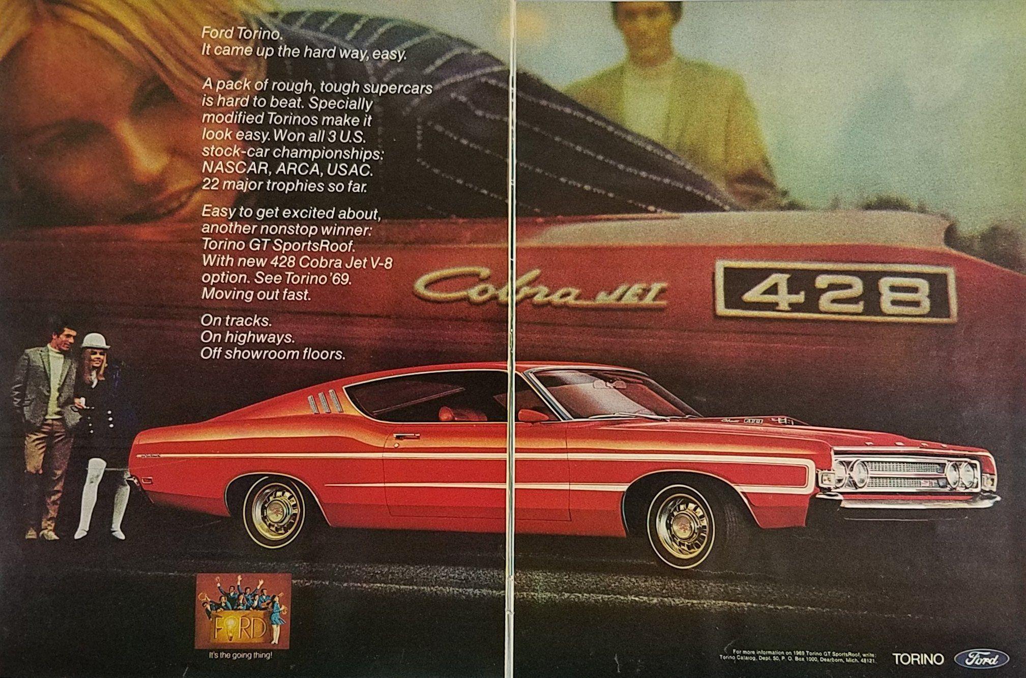 1964 Ford Fairlane Cobra Jet Vintage Advertisement Ad