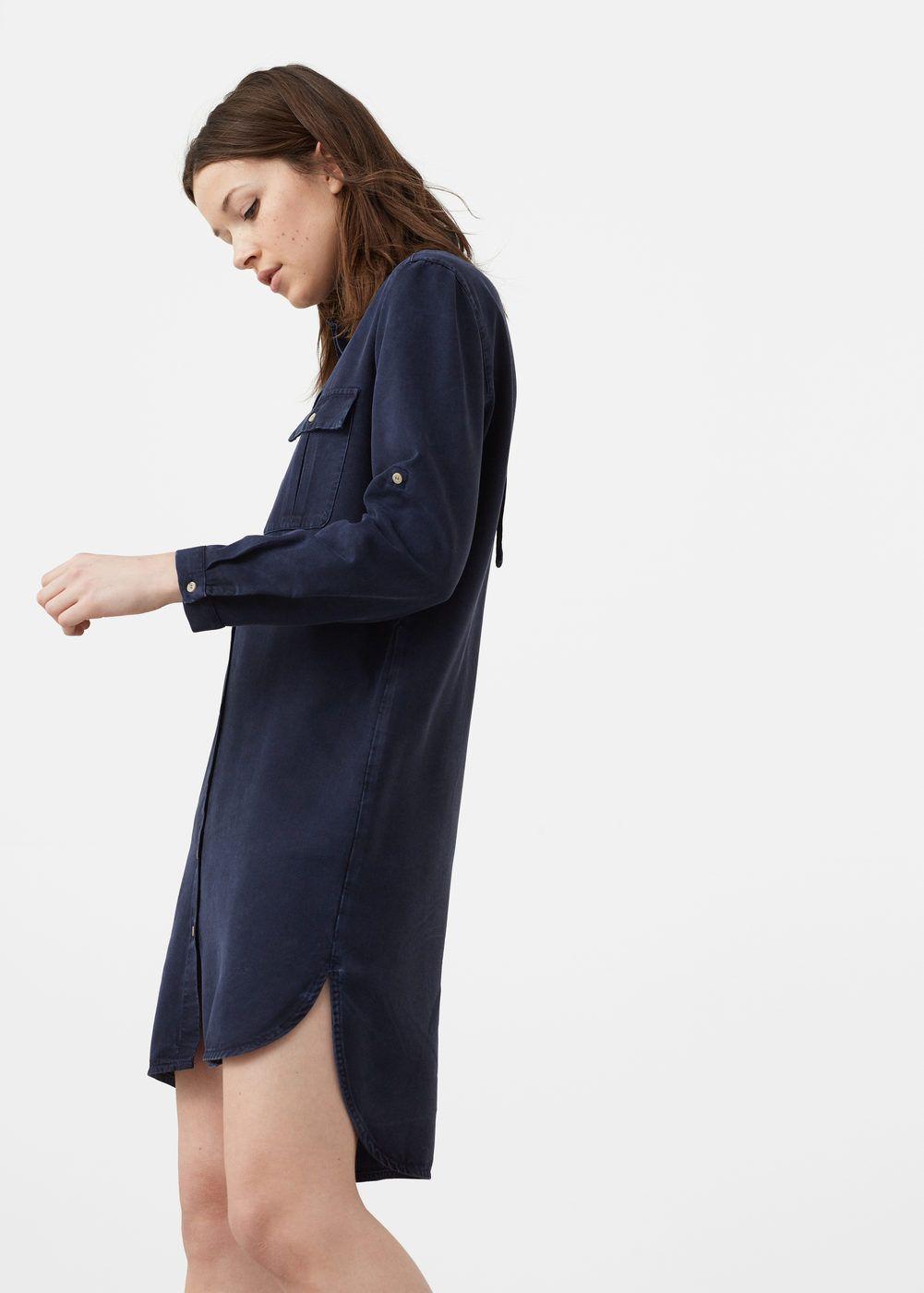 f8999f326824 399 sek - Bälte mjuk klänning - Klänningar för Damer | MANGO Sverige  Skjortklänning, Mini