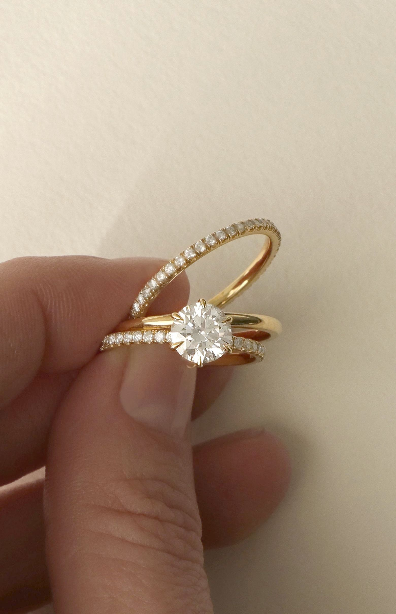 Diamond Solitaire Engagement Rings Ebay One Single Diamond Ring Wedding Ring Bands Engagement Rings Simple Engagement Rings