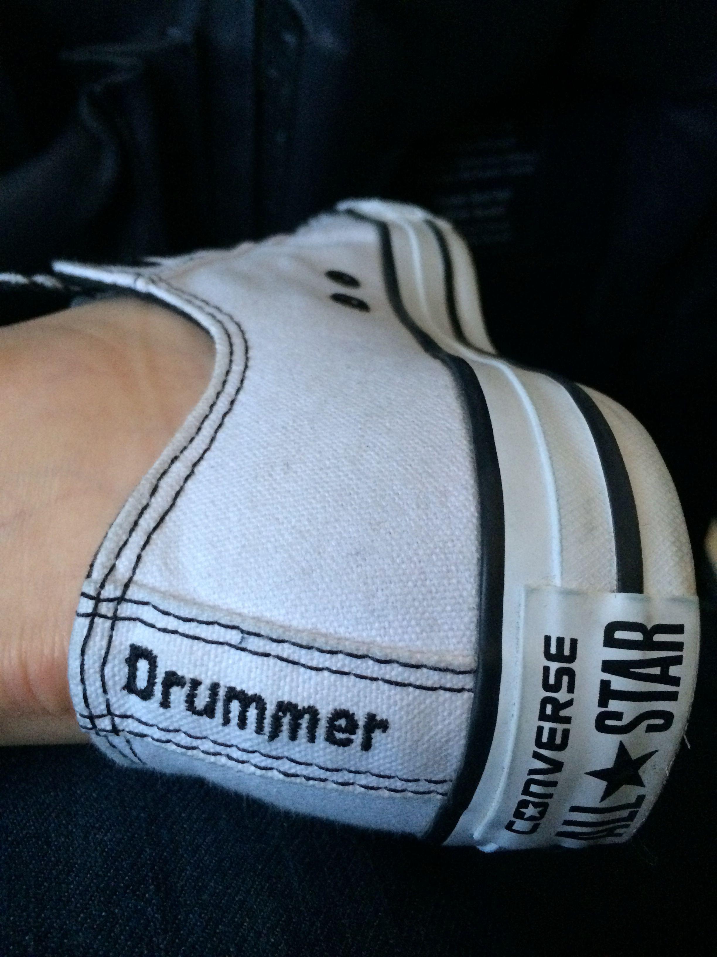 f3a817723399 Custom Design Converse Chuck Taylor Drummer Shoes by Michelle Sandlin