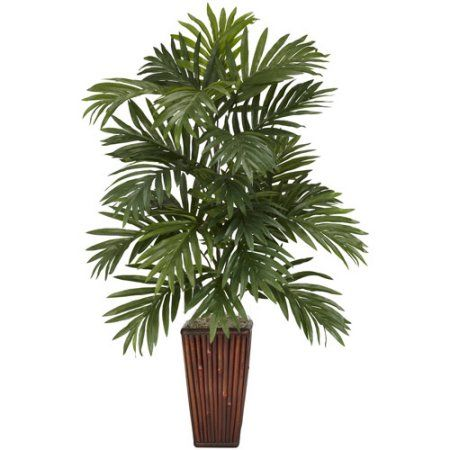 Free Shipping Buy Areca Palm With Bamboo Vase Silk Plant At Walmart